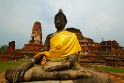 The city of Ayutthaya was destroyed by the Burmese invaders in 1767.