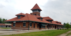 Paris Union Station, opened in 1912, served Frisco, Santa Fe and Texas Midland passenger trains