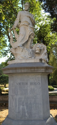 Statue of Victor Hugo in Rome, Italy.