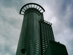 Westend Tower, also known as Westendstraße 1 or Crown Tower, Headquarters of DZ Bank
