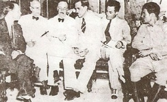 The Pentarchy of 1933. Fulgencio Batista, who controlled the armed forces, appears at far right