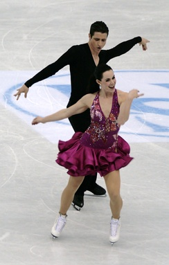 An example of ice dance costumes (Tessa Virtue and Scott Moir for Canada, 2012 World Championships)