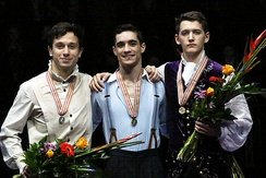 The 2016 medalists in the men's event