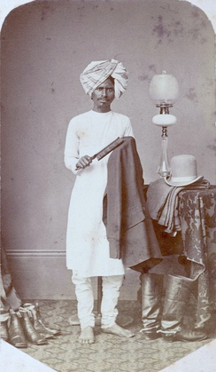 A valet in India, c. 1870