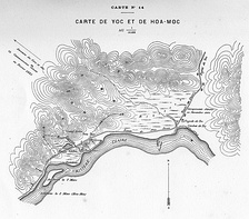 Map of the Battle of Yu Oc, 19 November 1884
