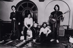 Blind Faith in 1969, with Clapton standing far right