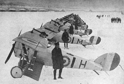 27 December 1917: No.1 RAF Squadron with Nieuport 17s and Nieuport 24s at Bailleul. See[11]