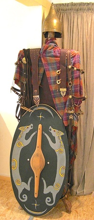 Reconstruction of the dress and equipment of an Iron Age Celtic warrior from Biebertal, Germany