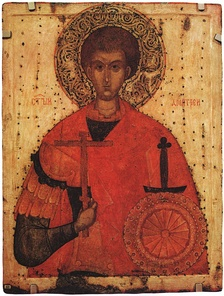 15th-century icon of St Demetrius (Russian State Museum, Saint Petersburg)