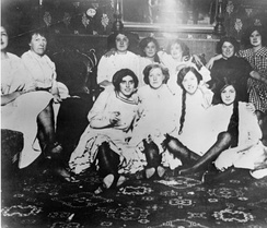 Women in an early San Francisco bordello in 1870