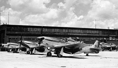 North American F-51D Mustang fighters of the 159th Fighter Squadron, Imeson Airport, Jacksonville, Florida, circa 1947.
