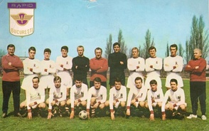 Rapid București team in the 1966–67 season, in which they won their first national title.