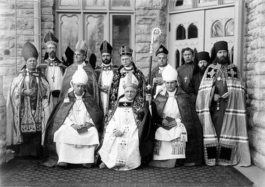 The consecration of The Rt. Rev Weller as an Anglican bishop at the Cathedral of St. Paul the Apostle in the Protestant Episcopal Diocese of Fond du Lac, with the Rt. Rev. Anthony Kozlowski of the Polish National Catholic Church and the Patriarch Tikhon of Moscow (along with his chaplains Fr. John Kochurov, and Fr. Sebastian Dabovich) of the Russian Orthodox Church present