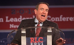 Former Governor Huckabee speaking at the 2011 Republican Leadership Conference in New Orleans, Louisiana