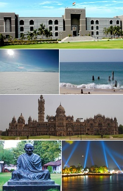 Gujarat has a large tourist potential.