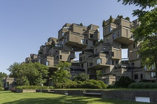 Habitat 67 (1967) in Montreal, Quebec, Canada, is a Brutalist building.[38]