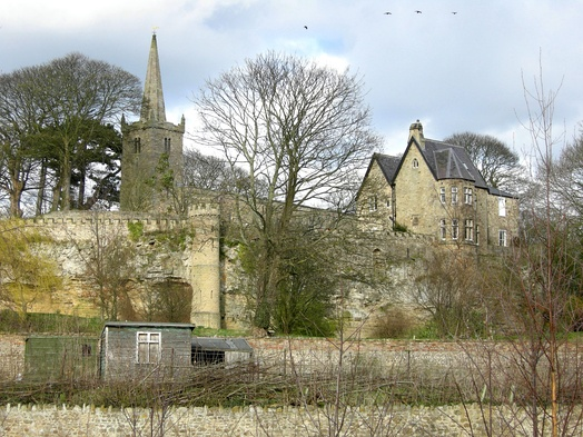 St Edwin's Church and vicarage on cliff