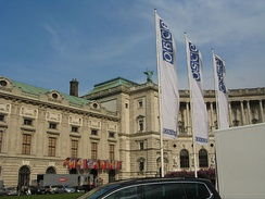 OSCE Permanent Council venue at the Hofburg, Vienna.
