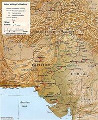 Map showing the sites and extent of the Indus Valley Civilisation. Mohenjo-Daro and Mehrgarh were among centers of the Indus Valley Civilisation in the modern-day province. Balochistan marked the westernmost territory of the civilisation, which was one of the most developed in the old Bronze Age in the world.
