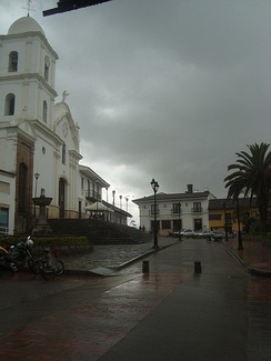 Guateque, in southeastern Boyacá during a rainy season