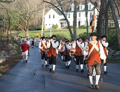 Acton Minutemen and citizens marching from Acton to Concord on Patriots' Day 2012