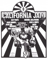 Deep Purple co-headlined the California Jam in 1974. They played to over 250,000 people at the Ontario Motor Speedway in Ontario, Southern California.