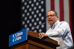 Ellison sought the chairmanship of the Democratic National Committee in 2017. The post ultimately went to Tom Perez, and Ellison assumed the newly created position of Deputy Chair.