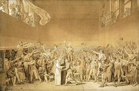 The National Assembly taking the Tennis Court Oath, by Jacques-Louis David