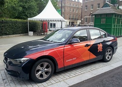BMW sponsor car at the London 2012 Olympics