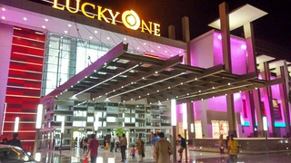 Lucky One Mall is the largest shopping mall in Pakistan as well as in South Asia with an area of about 3.4 million square feet.[124][125][126]