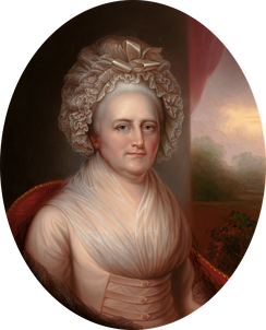 Martha Washington by Rembrandt Peale, circa 1856, based on a portrait by his father, Charles Willson Peale