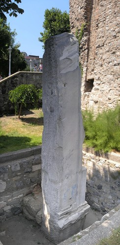 A fragment of the Milion (Greek: Μίλ(λ)ιον), a mile-marker monument