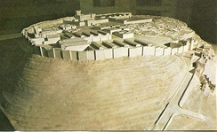 Model of Megiddo fortifications, 1457 BCE.