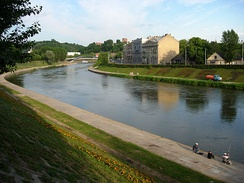 Neris River at Green Bridge, Vilnius.