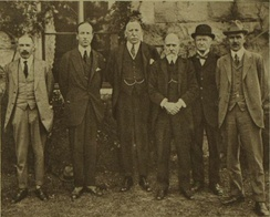 James Craig (centre) with members of the first government of Northern Ireland