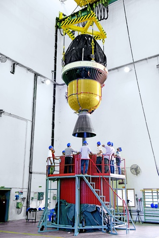 Third and fourth stages of PSLV-C45