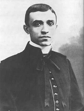 Pacelli on the day of his ordination: 2 April 1899