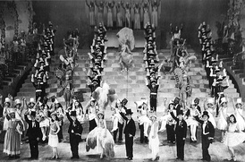 "Japan's all-female Takarazuka Revue in a 1930 performance of ""Parisette"""