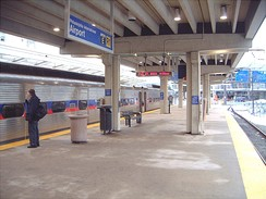 Airport Terminals E & F station along SEPTA's Airport Line