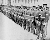 Formation of Filipinos in the U.S. Army Philippine Scouts in the Philippine Islands a territory of the U.S. in 1905