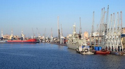 Lobito hosts a major seaport.