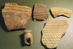 Fragments of prehistoric pottery from Kamabai Rock Shelter