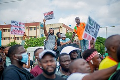 End SARS is a decentralised social movement, and series of mass protests against police brutality in Nigeria.