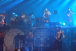 Rammstein performing along with Finnish act Apocalyptica in 2005
