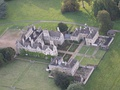 Air view of South facade of Lilford Hall