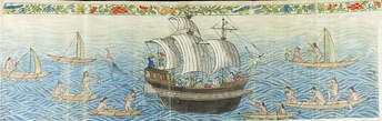 Reception of the Manila Galleon by the Chamorro in the Ladrones Islands, ca. 1590 Boxer Codex