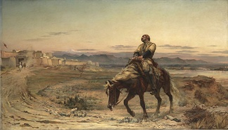 """Remnants of an Army"", showing the only British survivor of the 1842 retreat from Kabul"