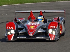 Rockenfeller driving the Audi R10 TDI en route to winning the 2008 Le Mans Series Drivers Championship.