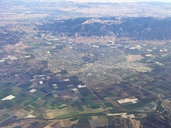 Salinas and the Salinas Valley. Fremont Peak and the Gabilan Range are also shown.