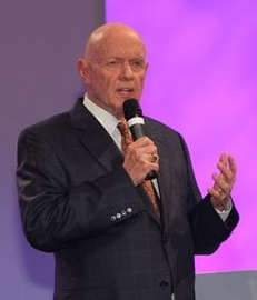 Stephen Covey, B.S. 1952, author of The Seven Habits of Highly Effective People